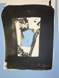 Robert Motherwell, 'Black and Blue (Basque Suite),' ca. 1970, Aaron Galleries