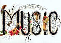 Music....making, playing, writing, singing, listening.. I live and breathe music.
