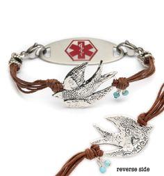 $60 Birdie Medical ID Bracelet at laurenshope.com I think I found my medical bracelet! :D