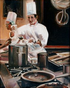 Thalia Stratton, representational oil painter, fine interior paintings, narative paintings, genre restaurant interiors,
