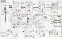 mobile design wireframe sketches by Fei Design , via Behance