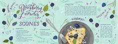 Blackberry Lavender White Chocolate Scone by Jasmine Jones - They Draw & Cook