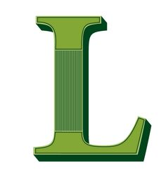 Buchstabe  Letter L  Buchstaben  Letter L