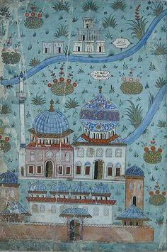 Matrakçı Nasuh - Mercidâbık-Karye-i Çil Hâlit ve Fırat-Beyan-i Menazil-i Sefer-i Irakeyn-i Sultan Suleyman, written circa 1537. (Istanbul University Library)