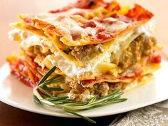 ... your lasagna fix? Try this: Light Lasagna Made with Turkey and Veggies