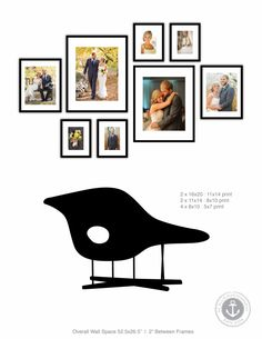 Framed Photo Gallery Wall Design