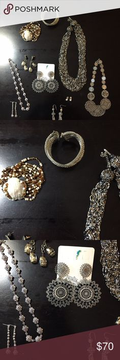 Assortment of jewelry Bracelets, necklaces and earrings Jewelry