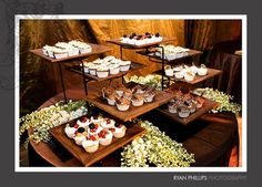 I Am Loving All The Layers On These Stands Used Here For Rustic Food Displaycatering