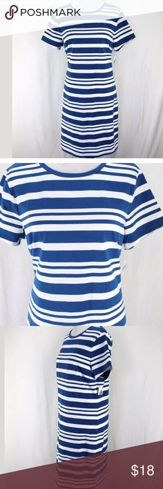 Old navy nautical t shirt dress new Blue and white striped  Short sleeves  93% Cotton, 7% Spandex new with tags Old Navy Dresses
