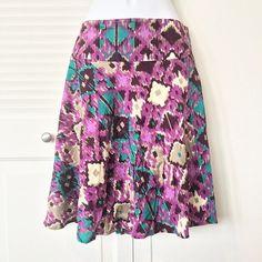 H&M purple patterned skirt. H&M patterned skirt. Size 12. 100% viscose. EUC. H&M Skirts