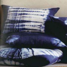 Indigo batik pillows - to buy or DIY