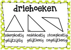 Poster wiskunde: driehoeken © Sarah Verhoeven Need To Know, Teaching, Education, School, Curriculum, Kids, Learning, Event Posters, Geometry