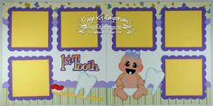 Scrapbook Page Kit Baby Girl First Tooth 2 page by PageKitEmporium