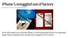 iPhone 5.  It's a shame that #technology pirating is no surprise to anyone anymore.