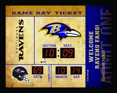 Baltimore Ravens Clock - 14x19 Scoreboard - Bluetooth