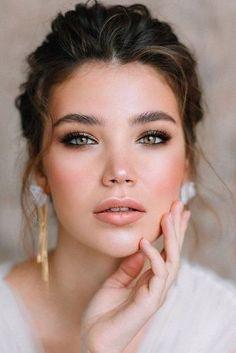 Bridal Makeup For Green Eyes, Natural Wedding Makeup Looks, Beach Wedding Makeup, Bridal Makeup Looks, Wedding Hair And Makeup, Hair Makeup, Wedding Bride, Bridesmaid Makeup Natural, Natural Bridal Makeup