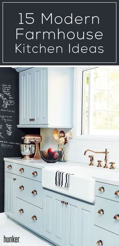 Love the charming farmhouse kitchen trend? Bring the outdoors in and go rustic to bring this look into your kitchen. Get all the ways and ideas that you can DIY to achieve this farmhouse kitchen at home!