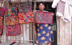 Mola art from San Blas island of Panama