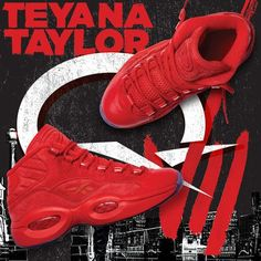 99a144cd6b87 Reebok Question Mid TEYANA TAYLOR Women s Basketball Shoes in Primal  Red-Ice Loafer Shoes