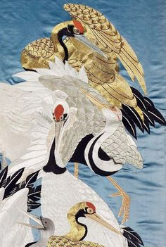 Fukusa (gift cloth). Embroidery. 19th century, Japan. William Sturgis Bigelow Collection; gift of William Sturgis Bigelow to the MFA in August, 1898