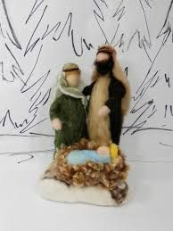 Image result for needle felted nativities