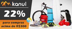 Nas compras acima de R$300 use este cupom de 22% de desconto na Kanui para os mais variados itens esportivos