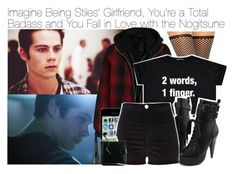 """""""Imagine Being Stiles' Girlfriend, You're a Total Badass and You Fall in Love with the Nogitsune"""" by fandomimagineshere ❤ liked on Polyvore featuring Wolford, R13, River Island and MAKE UP FOR EVER"""