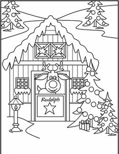 Free printable christmas coloring pages - reindeer craft & d Printable Christmas Coloring Pages, Free Christmas Printables, Printable Coloring, Christmas Colouring Pages, Coloring Pages To Print, Coloring Book Pages, Coloring Pages For Kids, Christmas Colors, Christmas Art