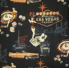 Las Vegas Black Dice Strip Hawaiian Camp Shirt Large Mens World Wide Sportsman #WorldWideSportsman #ButtonFront