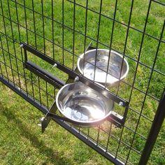 Lucky Dog Probreeder Turn-Style System Kennel Dog Bowls L X W X H Set of 2 bowls - 2 liters each - Dog Store K9 Kennels, Portable Dog Kennels, Dog Kennel Designs, Kennel Ideas, Dog Hotel, Dog Rooms, Pet Bowls, Dog Boarding, Pets