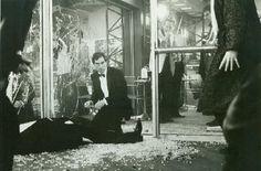 "James Bond (Timothy Dalton) takes off after Saunders' murderer - ""The Living Daylights"""