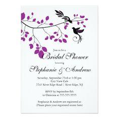 Love Birds Wedding Invitations Modern Love Birds Couples Bridal Shower Invitation