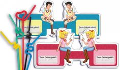 Trinkalmfähnchen mit Bibi&Tina Motiv kostenlos Jetzt ausdrucken