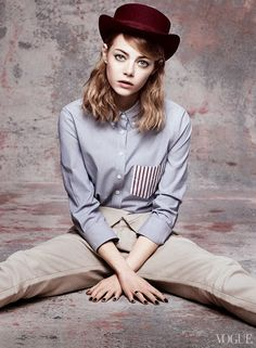 ston2 Vogue US Maio 2014 | Emma Stone por Craig McDean [Editorial]
