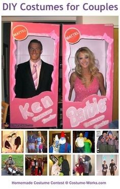 DIY Costumes for Couples - this website has tons of homemade costume ideas!