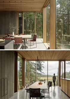 The Whidbey Island Farm Retreat Is Nestled Between Large Douglas Fir Trees – World Etes House On A Hill, House In The Woods, Douglas Fir Tree, Modern Glass House, Barn Renovation, Whidbey Island, Timber House, Forest House, Maine House