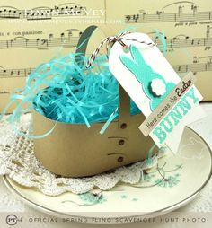 Easter Basket with Bunny Tag by Dawn McVey for Papertrey Ink (February 2013)