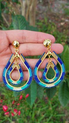 Seed Bead Jewelry, Seed Bead Earrings, Women's Earrings, Beaded Jewelry, Handmade Jewelry, Beaded Bracelets, Statement Earrings, Seed Beads, Diamond Earrings