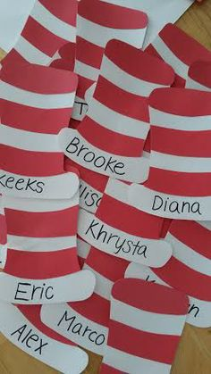 Dr Seuss door tags