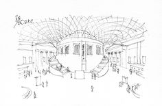 Great Court designed by Norman Foster at the British Museum @ London, UK, 20120509 / sketch by Youngdong Jang
