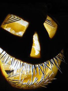 ~ a scary pumpkin carving