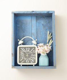 Another great find on #zulily! Blue Shadowbox Wall Shelf by DelHutson Designs #zulilyfinds