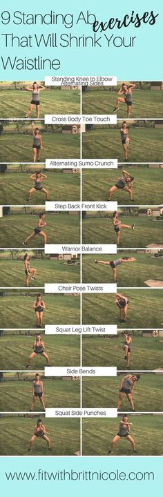 Fitness Motivation : Description Get a great ab workout without ever touching th. Fitness Motivation : Description Get a great ab workout without ever touching the floor! Here are 9 amazing standing ab exercises that will shrink your waistline! Fitness Workouts, Great Ab Workouts, Fitness Motivation, Sport Fitness, Fitness Diet, Yoga Fitness, At Home Workouts, Health Fitness, Fat Workout