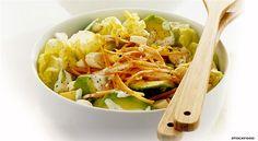 Insalata con Avocado, Cipolle Novelle e Carote