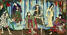 Image result for 浮世絵 滝
