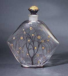 """Antique vintage perfume scent bottle, """"Reveillon,"""" by BACCARAT."""