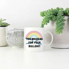 Away with that negativity!  Available at SnatchThatDeal.com in plain white or black&white mugs. Black And White, Mugs, Tableware, Dinnerware, Black N White, Black White, Tumblers, Tablewares, Mug