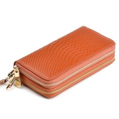 0116996fc3 Details about Women Lady Zipper Leather Wallet Long Purse Clutch Coin Bag  Card Holder Handbag