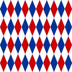 red, blue and white harlequin fabric by weavingmajor on Spoonflower - custom fabric