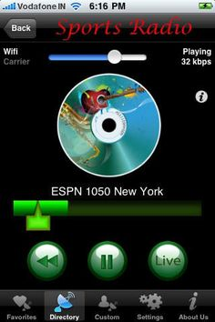 Permeative Technologies Pvt Ltd | Sports | iPhone | Sports Air Radio ( ... $0.00 | ver.5.0| $3.99 | Have you ever seen pausing Radio, and resuming from there, rewinding and listening again and again? All these can be done with Sports Radio (Same ...